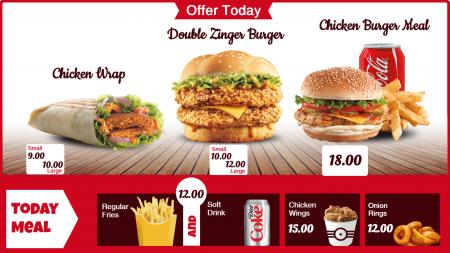 Burger Menu Board