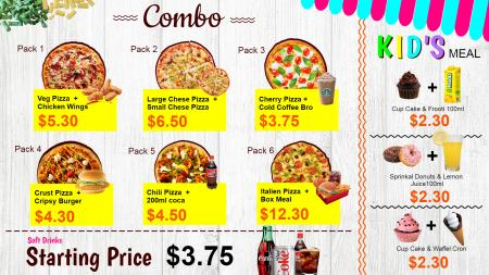Pizza Combo pack and Kids Meal
