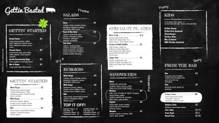Black signage menu