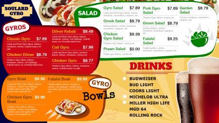 Gyro menu