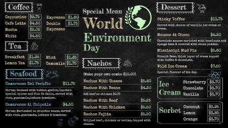 Environment day special menu