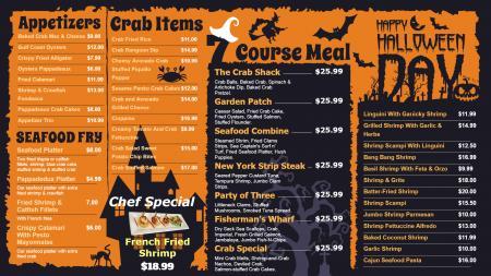 Halloween special menu