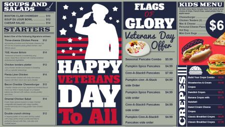 Veterans day menu design