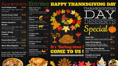 Happy thanksgiving day signage template