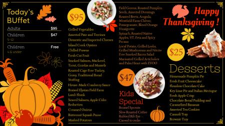 Black thanksgiving day menu design