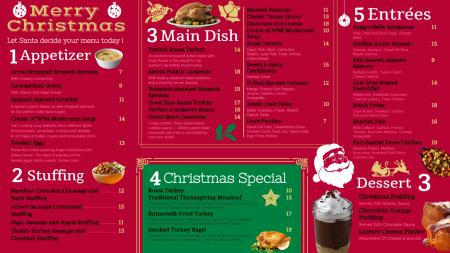Red Merry Christmas signage menu template