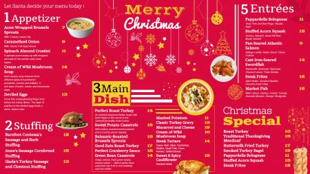 Merry Christmas menu design