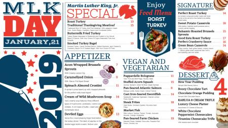 Martin Luther King day menu