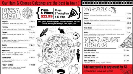 Spanish pizza for digital signage