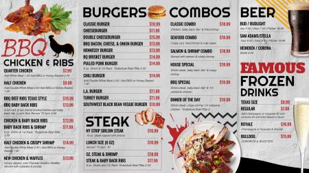 BBQ digital signage menu