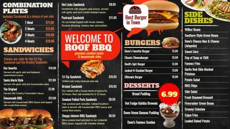 BBQ Signage Menu