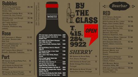 Wine menu for digital signage