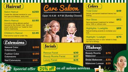 Salon signage