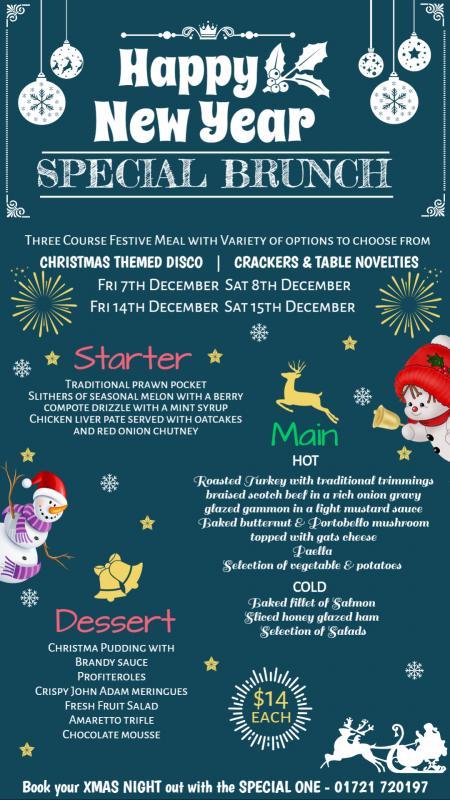 Vertical Christmas menu