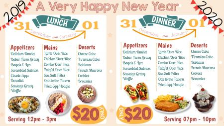Nice New year menu