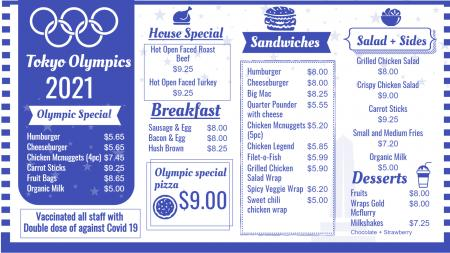 Olympics Restaurant Menu